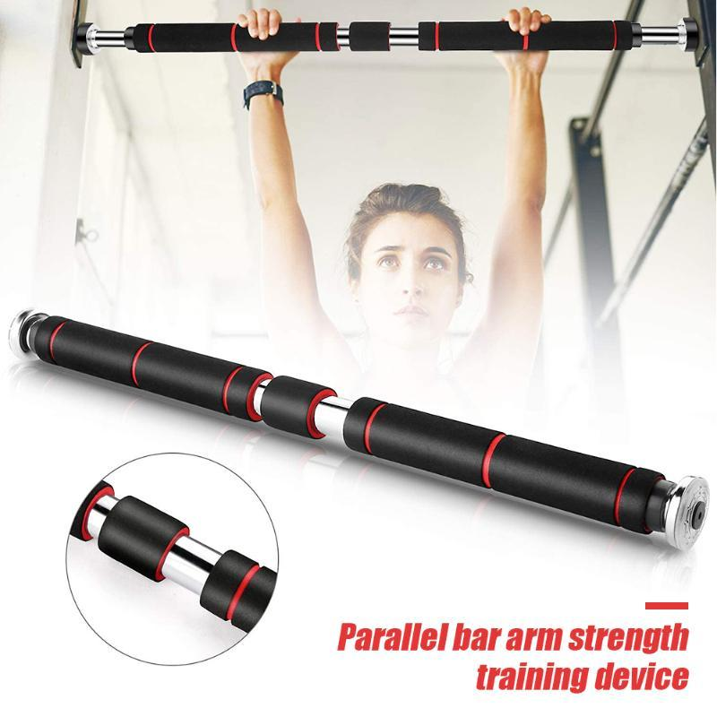 Horizontale Balken Türstahl Einstellbar Home Gym Workout Kinn Push Up Pull Training Bar Sport Fitness Sit-Up Equipment 60-100cm