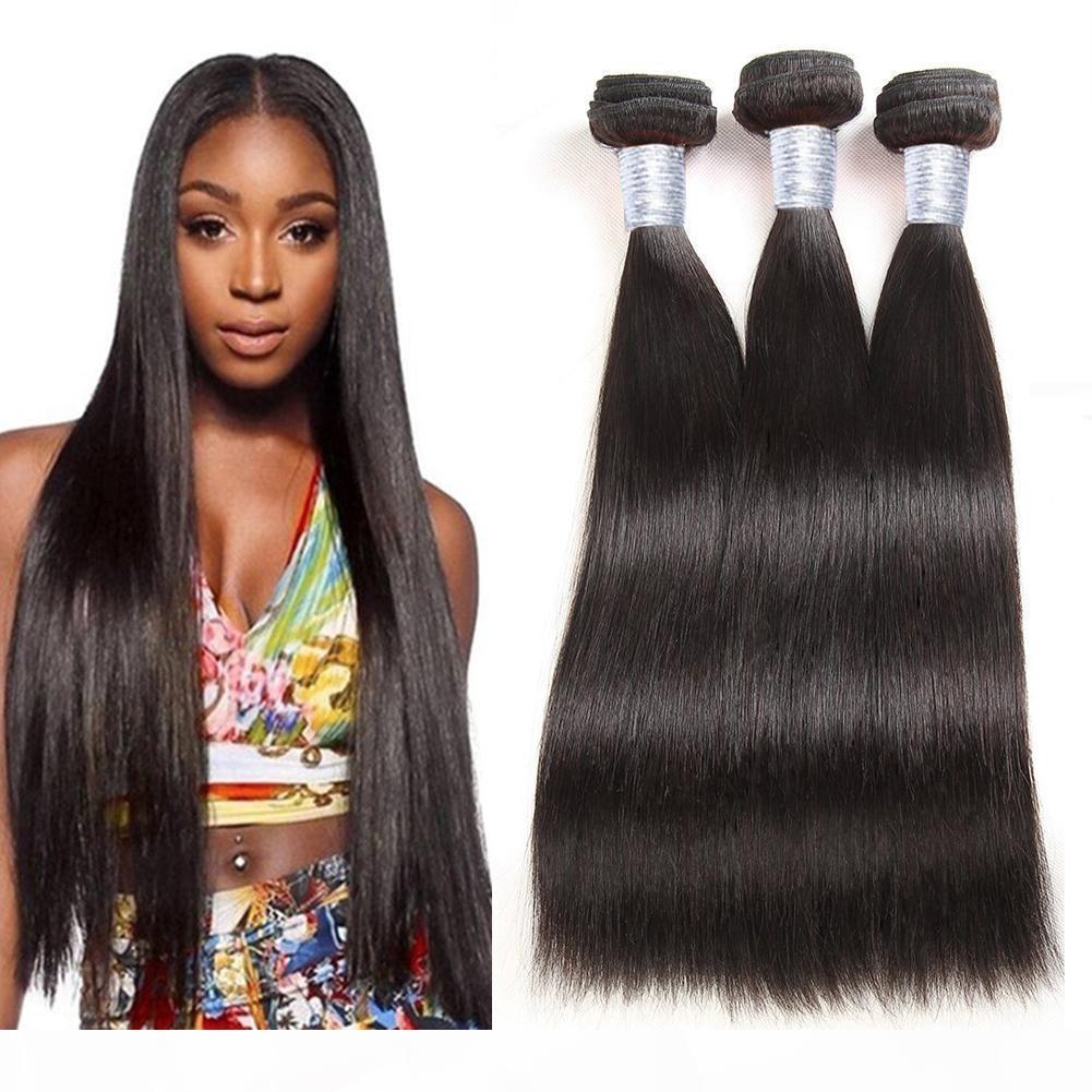 "Unprocessed Brazilian Virgin Human Hair Bundles Peruvian Straight Hair Weaves 3pcs lot 8""-30"" 1B Soft Malaysian Remy Weaving Hair"