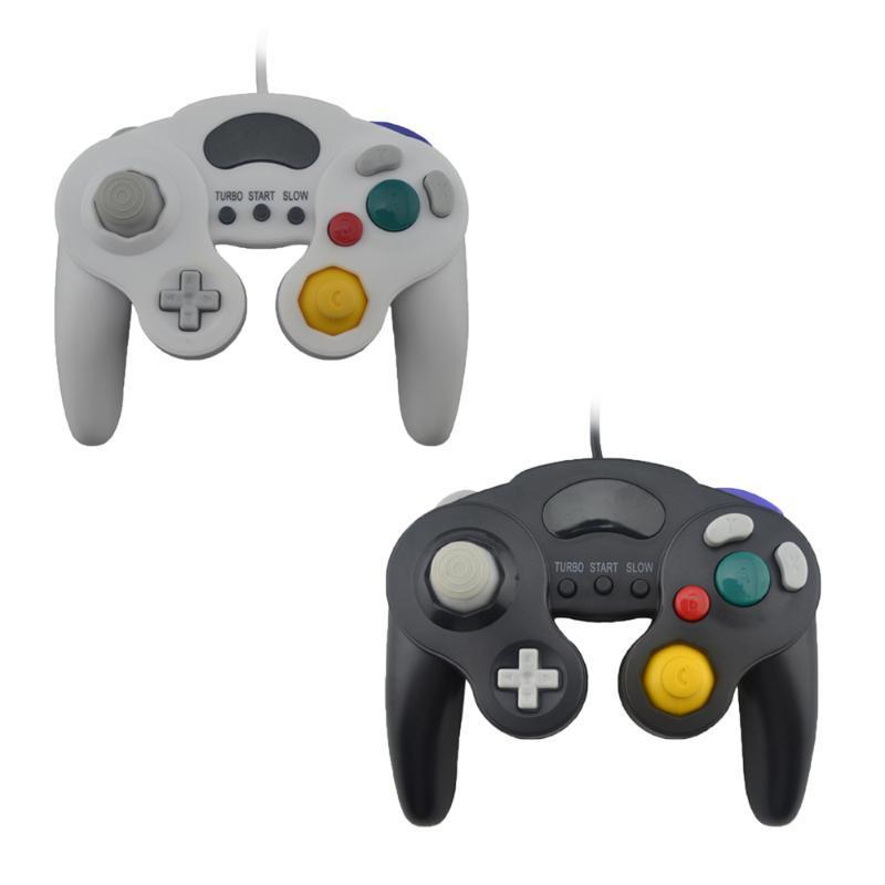 تحكم اللعبة المقود 3 أزرار ل Gamecube PC تحكم السلكية Joypad / عصا التحكم / Gamepads N-G-C / G-C Mac الكمبيوتر Gamepad