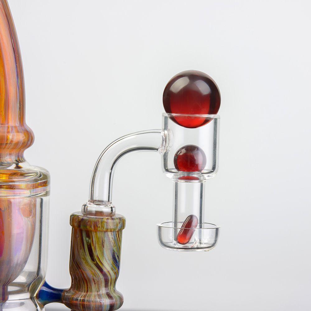 TERP SLURPER BANCER Edge smussato quarzo al quarzo Banger con pillola rubino di perla terpe per acqua di vetro Bongs impianti di petrolio