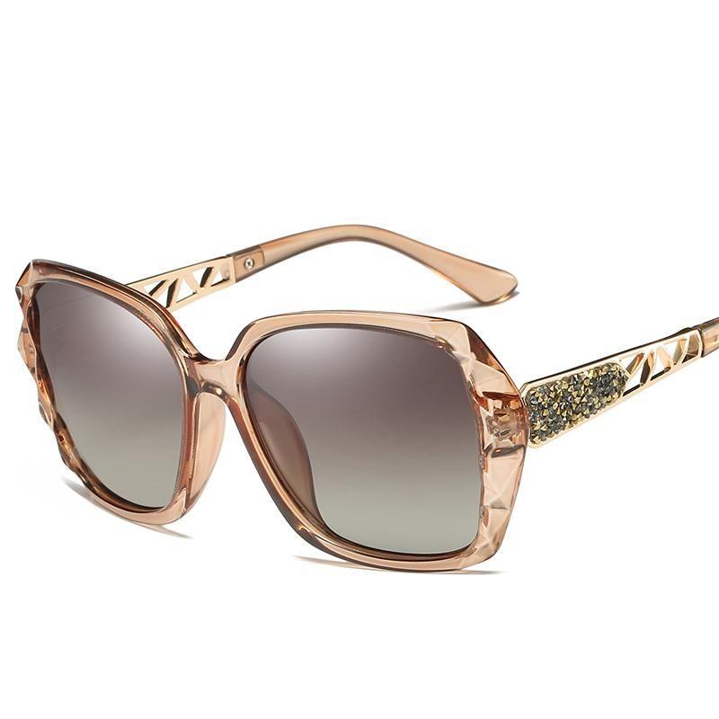 Солнцезащитные очки Maoleen 2021 Дизайн поляризованные Женщины Дамы Элегантные Негабаритные Солнцезащитные Очки Женские Призматические Очки