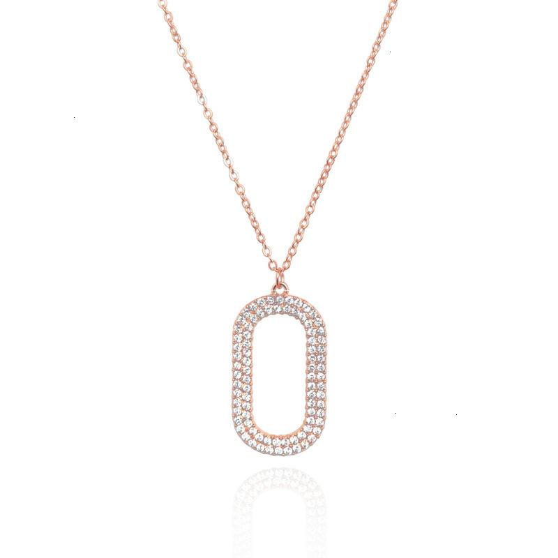 01 70% скидка на ворота ворота Diamond o-образное ожерелье кореец INT