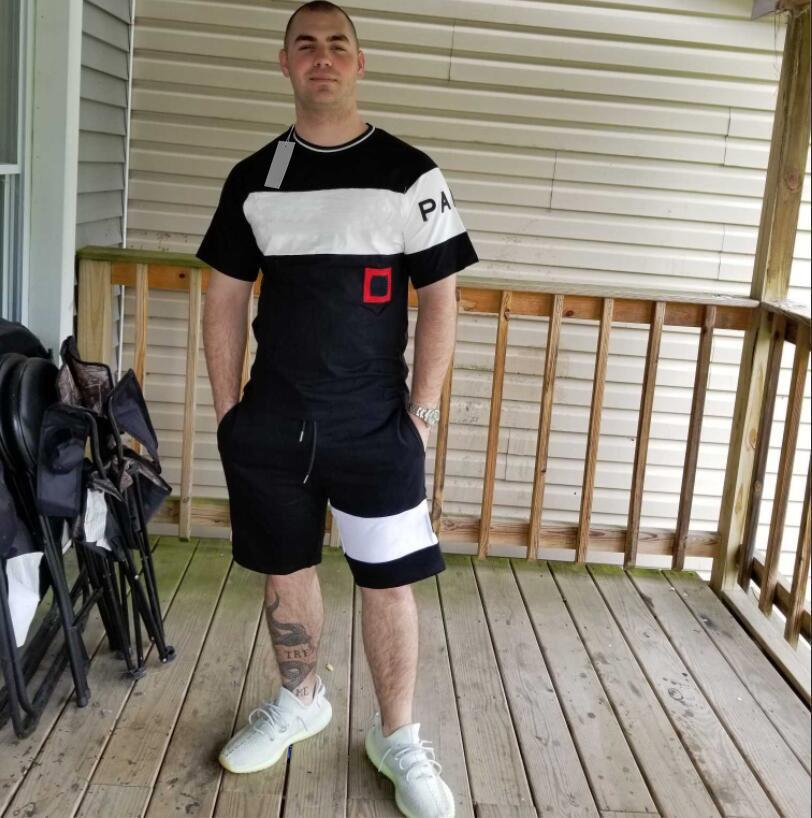 20ss модный дизайн спортивный трексуит для мужчин буквы вышивки тройник шорты костюмы летние бегущие женщины трек костюм футболка S-2xL