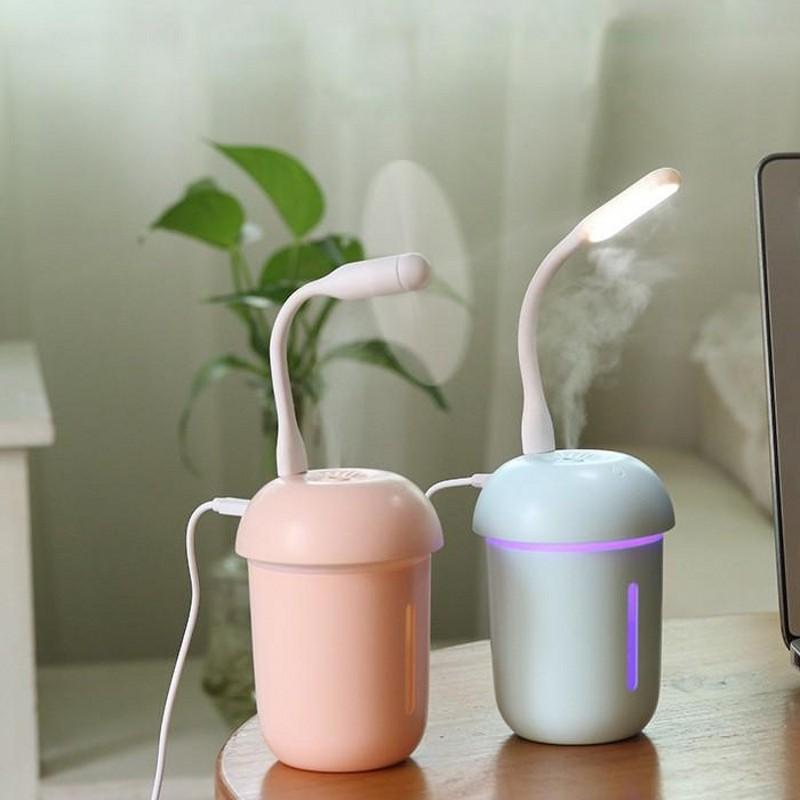 USB 11.7cm Dispositivos fumegantes Mini Cogumelos Lâmpadas Máquinas de Humidificação Ventilador de Água Abastecimento Instrumento Silencia Brilho Novo 16 5Cl G2