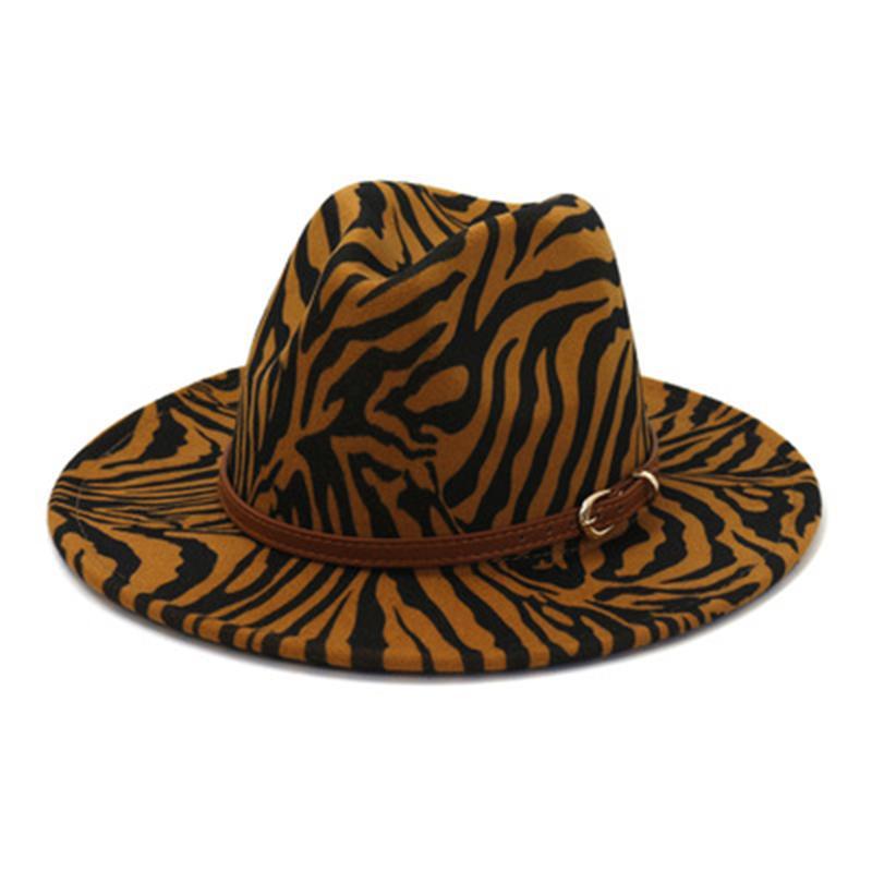 femmes chapeaux fedora zabra print fedora chapeau large bande bord bande bande décontractée fascinator extérieur luxe noir blanc rayé hommes chapeaux femmes