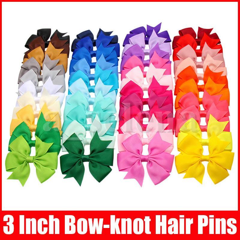 40 ألوان لطيف تصميم الشعر الانحناء دبابيس الشعر للأطفال بنات الشعر كليب الأطفال القوس عقدة المشابك الملحقات