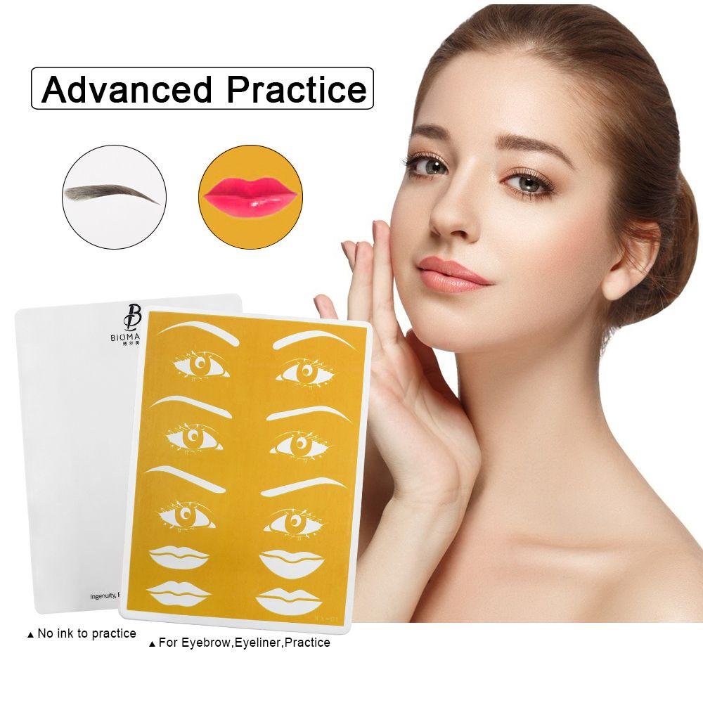 Biomaser Practical Pigments 3D Tebori Microblading Kits Eyebrow Tattoo Makeup Pen Needle Paste Skin For Beginners Body ArtRabin