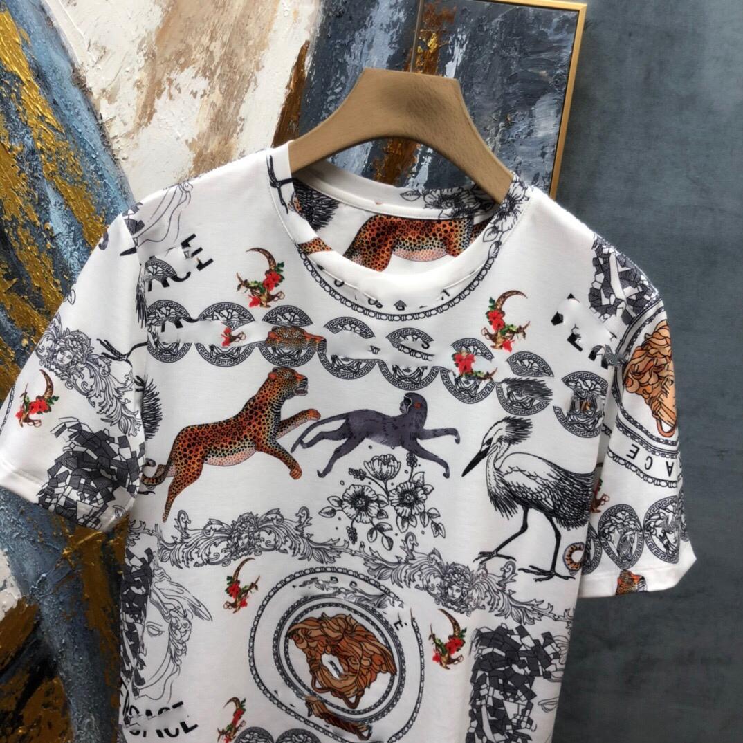 2021 Новая Футболка Вышивка Мода Мужчины и Женщины Дизайн Черно-белые Высокое Качество Футболки Вы хотите больше фотографий Пожалуйста, свяжитесь со мной 205