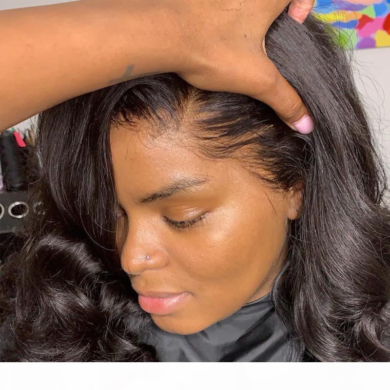 Тело волны кружева передний парик короткие человеческие парики для волос для черных женщин афро HD полная лобная свободная глубокая перуанская длинная 30 дюймов