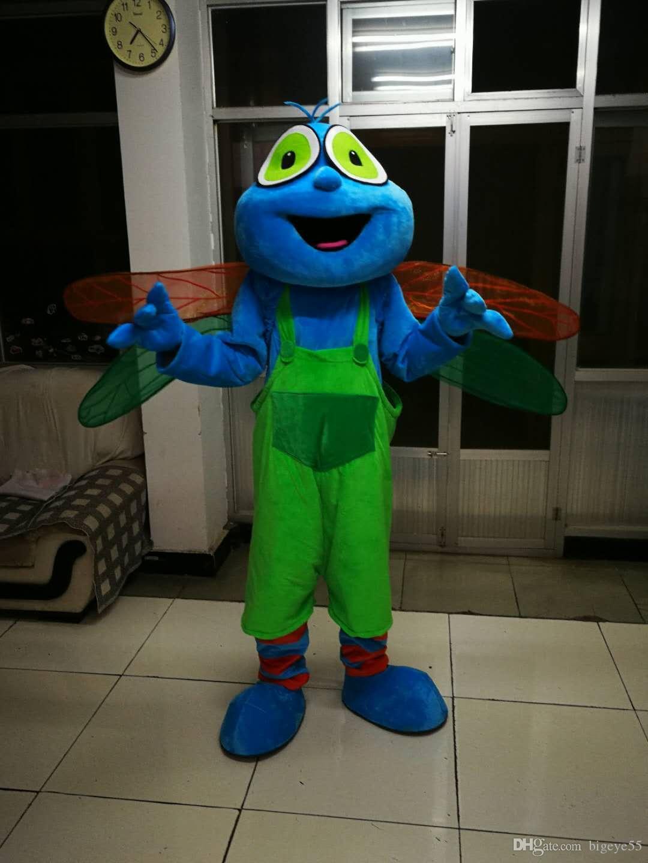 Quadri reali di alta qualità Costume della mascotte della mascotte della libellula di alta qualità Trasporto libero