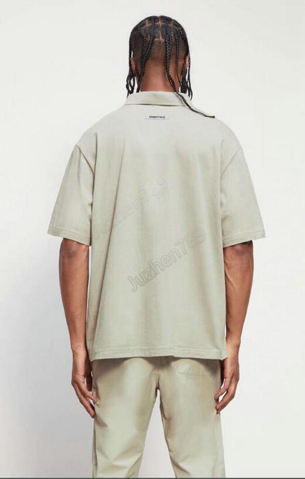 2021 مجموعة 7th جيب يتدفقون بولو المعتاد تي شيرت عالية الشارع قصيرة الأكمام تي زوجين المرأة رجل الأزياء قمصان رجالية بولو F27