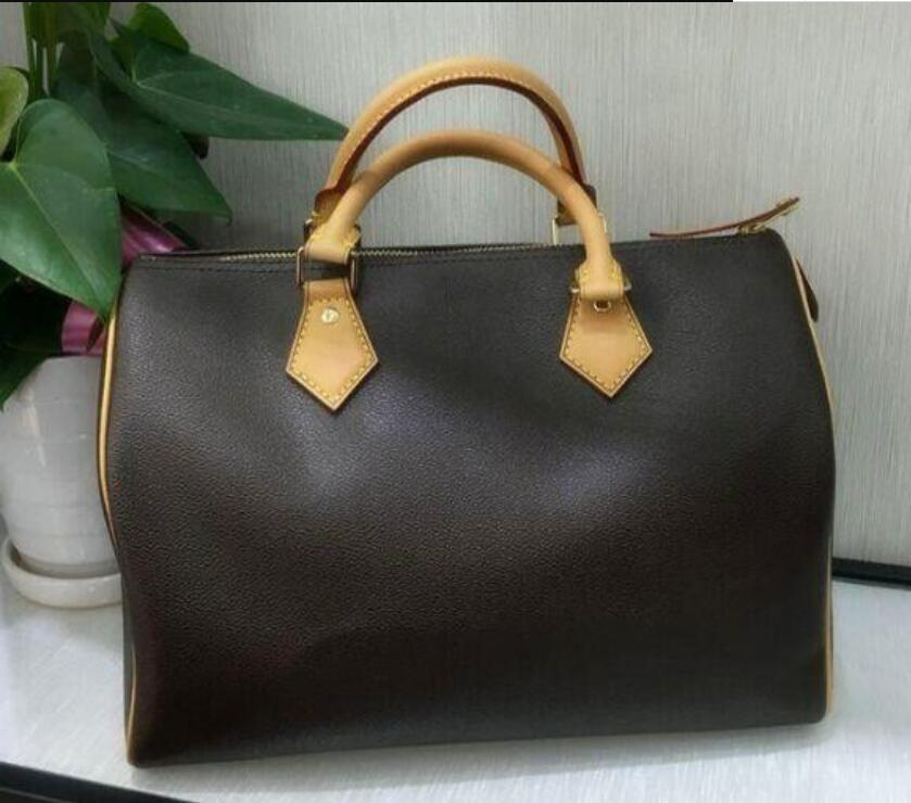 2021 di alta qualità 100% 100% in vera pelle shopping bag shopping borsa speedy 25/30/35 tote classico borsa a tracolla in tela lussurys designer design