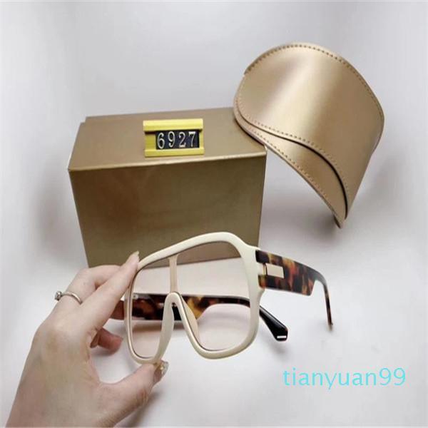Luxo 6927 Marca Designer Sunglasses para mulheres homens redondo estilo de verão retângulo quadro completo Proteção UV de qualidade superior com caixa