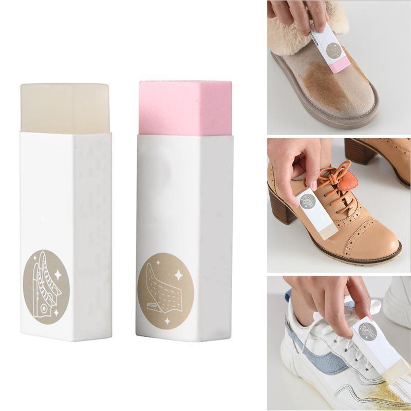 Резиновый блок для обуви Мужской кожаный ботинок чистый уход Eraser Щевья щетка для очистки лака очистить дезактивацию протрите натуральное растирание
