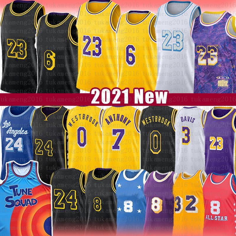 Mens Youth Kids Los LeBron 23 6 James Angeles Kobe 24 8 Bryant Lakers Basketball Jersey Anthony 3 Davis Kyle 0 Kuzma Earvin 32 Johnson Shaquille 34 O'Neal Alex 4 Black Caruso Mamba