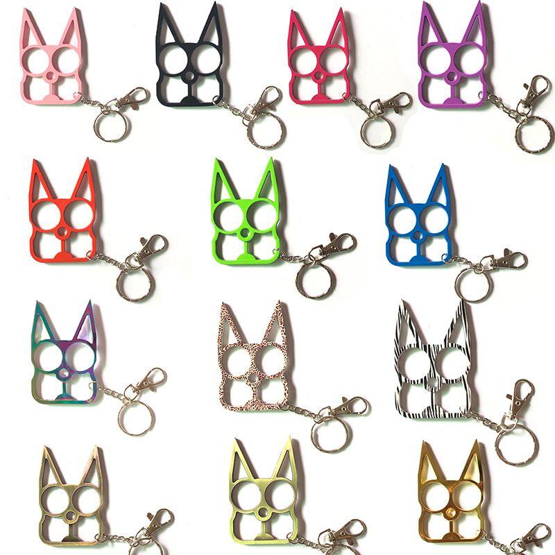 Self Defense Keychains Creativity Cat Keychain Key Chain Bottle Opener Screwdriver Outdoor Fashion Women Men Self-Defense Tool FHL277-ZWL688