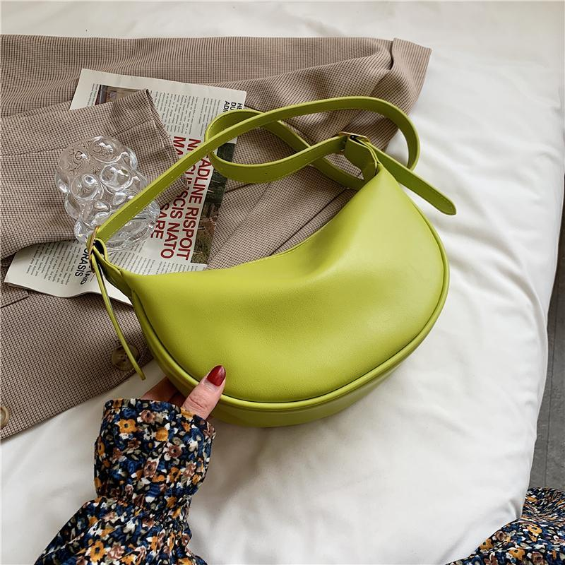Evening Bags Solid Color Simple Small Handbags For Women Crossbody PU Leather Underarm Bag Trendy Shoulder Purse