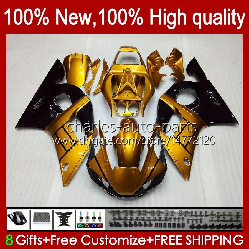 BODY dla YAMAHA YZF-600 YZF R6 R6 600CC YZFR6 1998 1999 00 01 02 Nadwozie 1NO.21 YZF 600 CC Cowing YZF-R6 98-02 YZF600 98 99 2000 2001 2002 2002 ABS Fairing Kit Błyszczący złoty