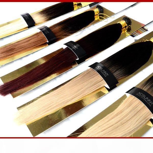 "Xcsunny 18 ""20"" Malaysian I Tip Human Hair Extensions Ombre Haar 100g Keratin Fusion Haarverlängerungen Indische Stick Spitze Erweiterungen"