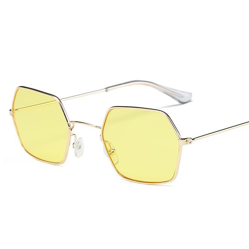 Yeni Ucuz Güneş Gözlüğü Unisex Kare Vintage Güneş Gözlükleri Sunglases Kare Güneş Gözlüğü Retro Feminino Kadın Erkek Için