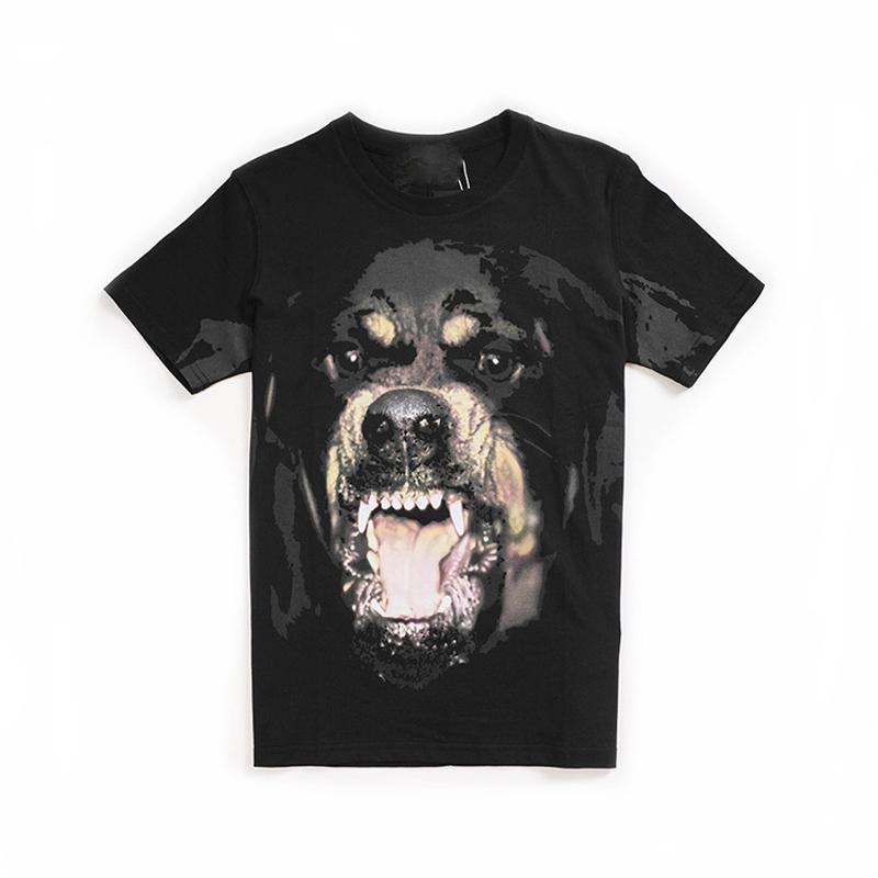 2021 Top Quality Mens Women Dog Pattern Print T Shirts Black Men Womens High Oversize Short Sleeve Tees Top Designer Clothes Size S-3XL