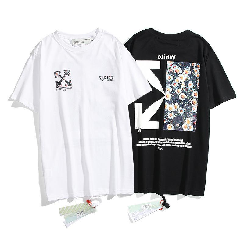 Chao Marque Offwhite2021ss New Boutique Ronde Col Direct Jet Direct Petite Daisy Arstyle T-shirt à manches courtes