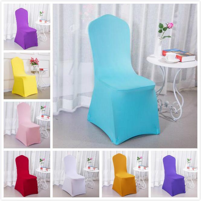 Spandex Polyester Chaise Couverture Plage Amovible Stretch Siège à manger pour banquet de mariage Chaises d'hôtel Couvertures LLB9139