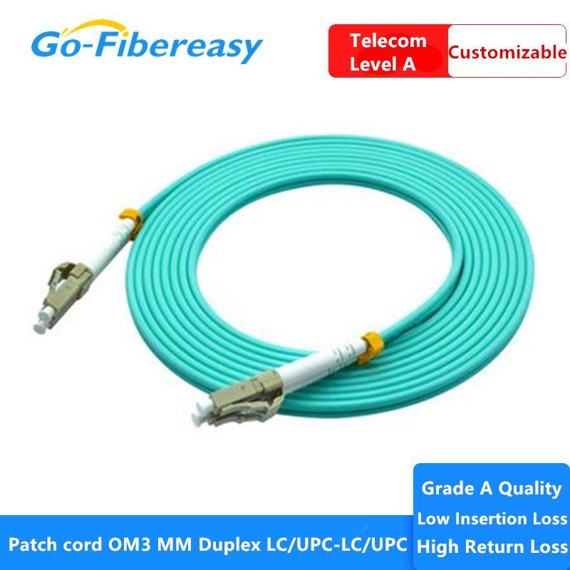 Câble de raccordement de la fibre de fibre de fibre de 3G OM3 de 10 pcs / sac LC-LC MODE MODE MODE MODE Câble de cordon de câble 50 / 125um 3.0mm 3M 3M Cordon de patch optique