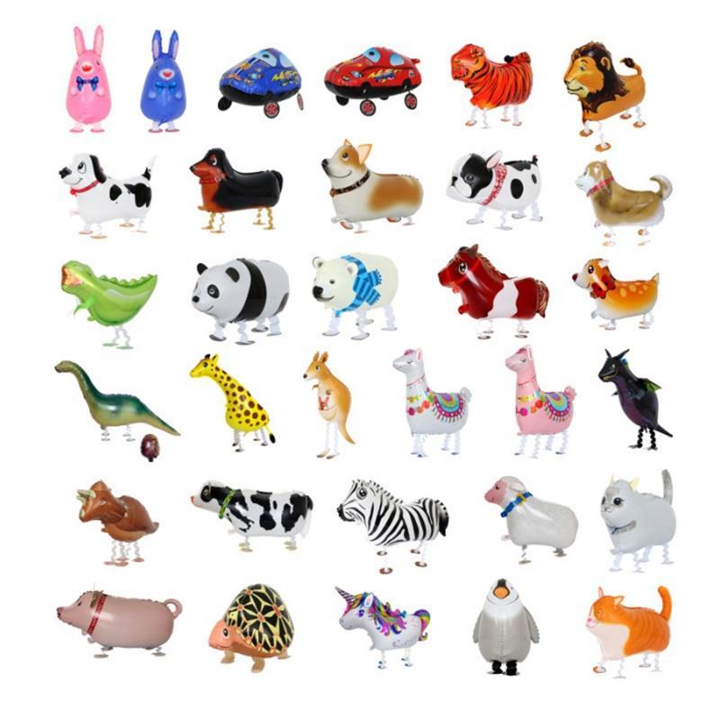 Andando Pet Balões Animais Hélio Alumínio Desenhos Animados De Alumínio Filme Balões Multicolor Balão Animal Balão Aniversário Casamento 227 S2