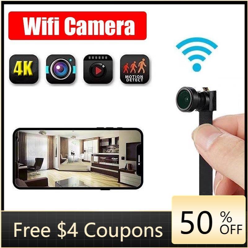 كاميرات صغيرة Bolca 4K WiFi IP كاميرا وحدة الحركة DV 1080P P2P مسجل فيديو Security Security Camcorder التحكم عن بعد TF