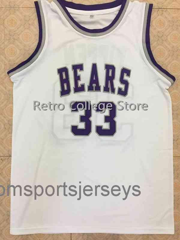 # 33 Scottie Pippen Bears Branco Jersey Costume Personalizado Qualquer Número Nome Camisolas
