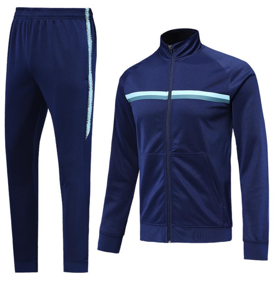 0017 Veste de style décontracté Veste Maillot de pied Survèrent Full Zipper Jogging Tracksuit Kits Taille S-XL