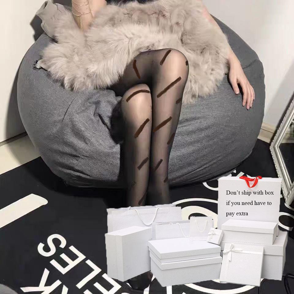 Seksi Kadın Çorap Siyah Lady Klasik Mektup Desen kadın Çorap Yüksek Kaliteli Hosiery Bir Boyutu Sıcak Satış Tayt