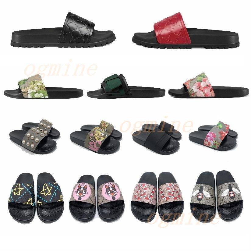 #2021# slides Man Woman slippers Flat bottoms G Summer Beach Indoor Black Red Green Sandals Slippers House Flip Flops With Spike sandal