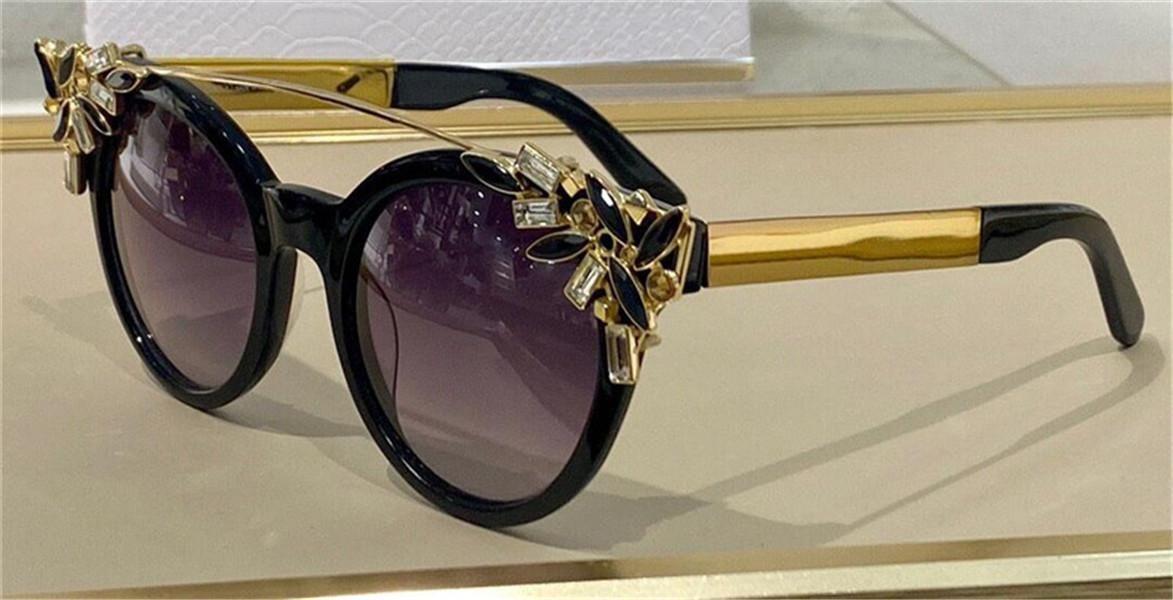 Occhiali da sole Pop Moda Vivy Cat-Eye Blocco per occhio con travi decorativi in metallo staccabile in metallo esagerato e low-key Style UV400 Lente