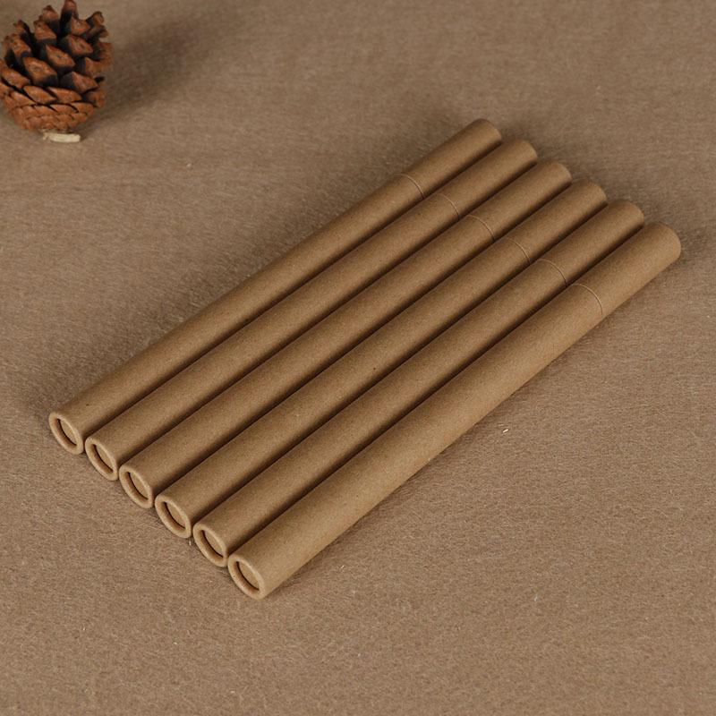 Kraftpapier Räucherstäße Räucherstäbchen Räucherstäße Kleiner Aufbewahrungsbox für 10g 20g Joss-Stick Bequemes Tragen Paper Parfüm Tube GWE9717