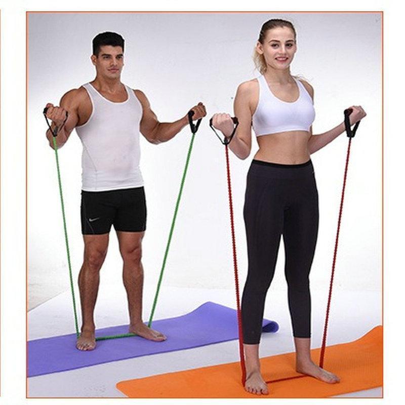Direnç Bantları Lateks Halat Elastik Bant Egzersiz Ekipmanları Vücut Geliştirme Egzersiz Ev Gym Fitness Jimnastik