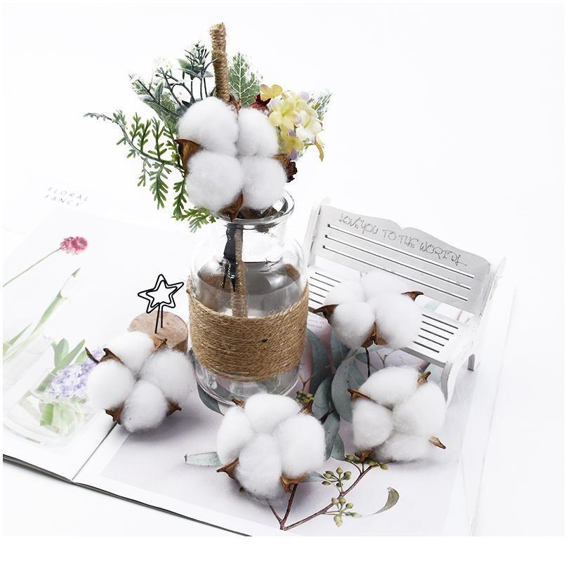 6 قطع 5 سنتيمتر الزهور الاصطناعية بالجملة القطن باقة عيد الميلاد الزهور الزخرفية الزهور الزفاف القابضة الزهور ho jlloie