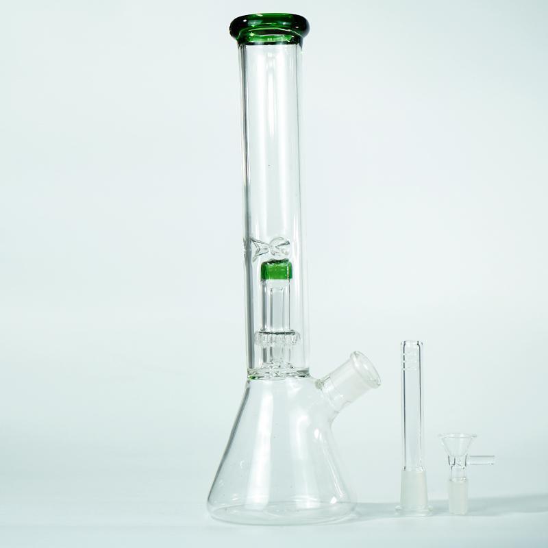 14 inches perc percolator big Bongs hookah clear beaker bong glass smoking water pipe tobacc dab rigs lookah