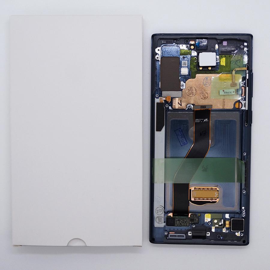 Display LCD del tattile del telefono cellulare per Samsung Galaxy Nota 10 Plus N975 AMORED SCREEN Digitizer Assembly con telaio nero