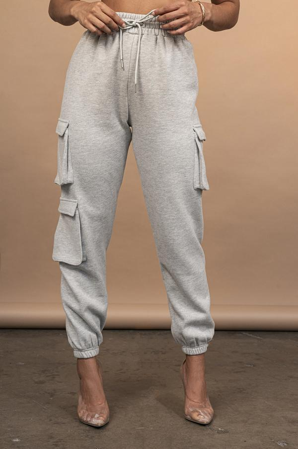 Pantaloni da donna Capris Cool Donne Solid Color Sweatspants Casual High Elastic Waist Coulisstring Street Fit Fit Pantaloni con tasche Street