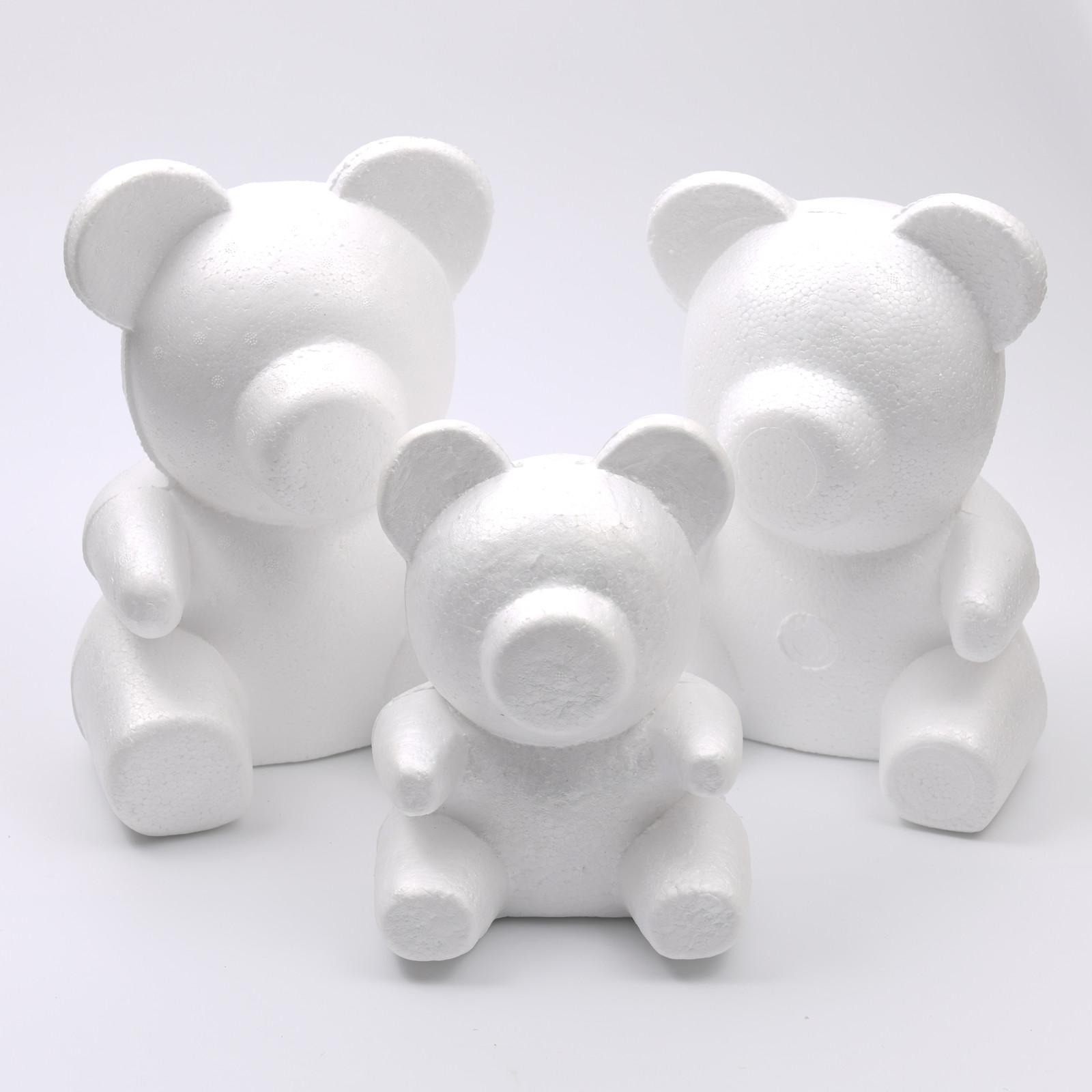 1 unids 15 cm-30 cm Varios tamaños Molde de oso de rosa DIY para regalo Poliestireno espuma de poliestireno espuma bola artificial rosa flores oso L0220