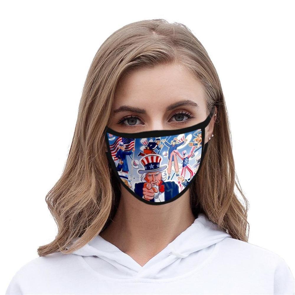 Maschera di moda 3D della bocca della bocca del fumetto del fumetto del cotone della lavabile del cotone PM2.5 Maschera protettiva della maschera della maschera del viso antipolvere e dello smong # AQ191ojy