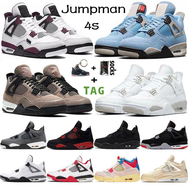 2021 En Kaliteli Jumpman 4 4 S Erkek Basketbol Ayakkabı Üniversitesi Mavi Taupe Haze Beyaz Oreo Guava Noir Paris Kadınlar Sneakers Eğitmenler Boyutu 36-47