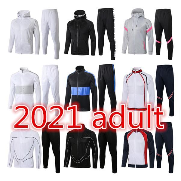 2021 هوديي سترة رياضية survetement mbappe hakimi كرة القدم جاكيتات الهواء soccer soccer