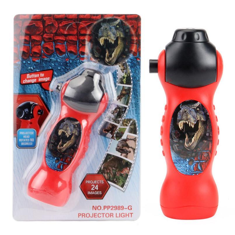 24 Patterns Dinosaur Halloween Projector Lamp LED Flashlight Cartoon Toys For Baby Sleep Light 90 Rotary Enlightenment Learning