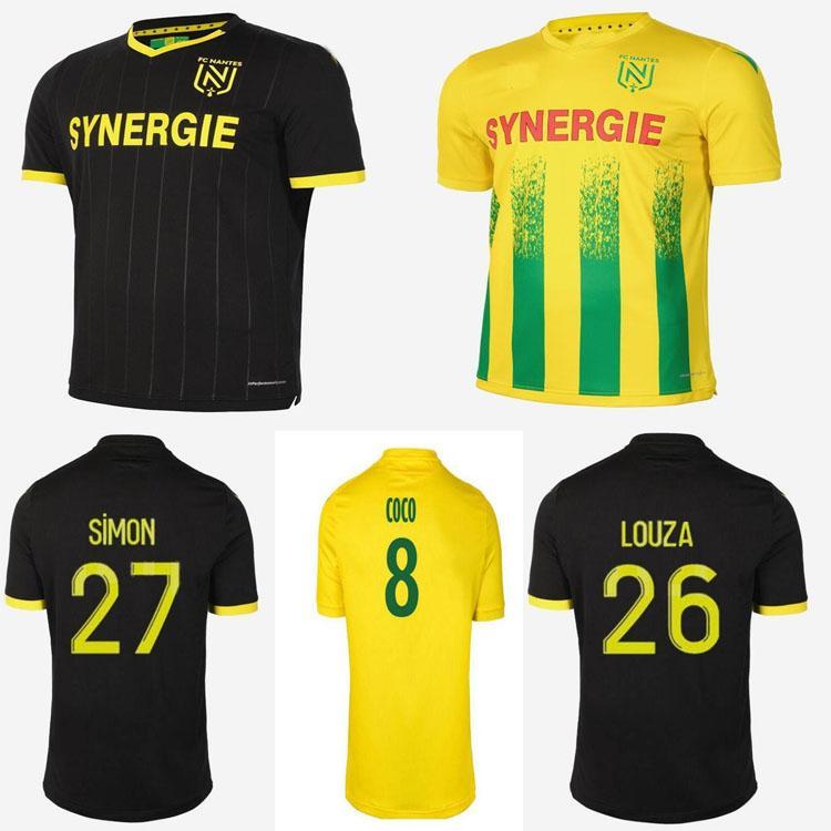 2021 FC Nantes Jerseys de futebol 20 21 Home Amarelo Mens Sala Coulibaly Waris Rongier Boschilia Camisa de Futebol Homens Kit Kids Kit