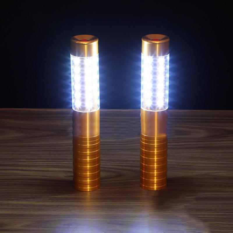 Night Lights BEIAIDI Rechargeable LED Metal Strobe Sparklers Service Creative Flash Stick Light For Bar Champagne Wine Bottle