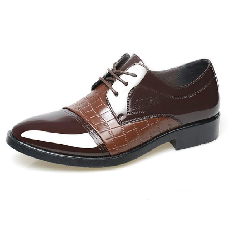 الانزلاق على اللباس الرسمي للرجال المتسكعون الرجال الأحذية الفاخرة البني اللباس الأحذية الرسمية للرجال الكلاسيكية الإيطالية اللباس بوتي ميسكي