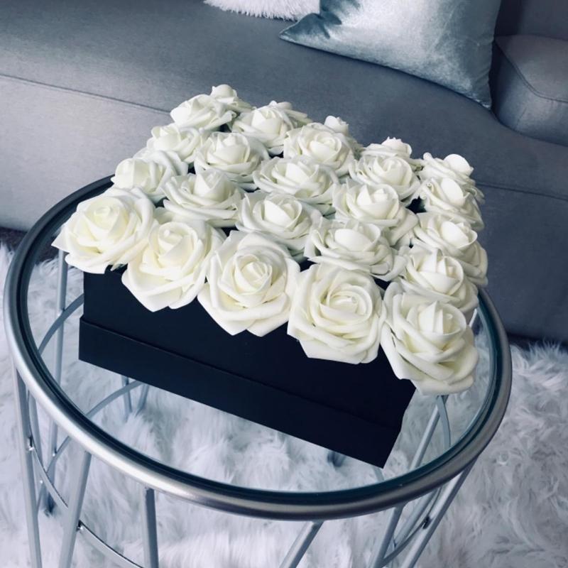 10/20 cabezas 8cm Nuevo Artificial PE espuma flores rosa novia ramo de novia flor decoraciones de boda scrapbooking bricolaje flor